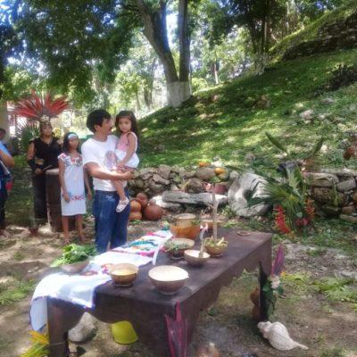 Realizan el Jéets Méek, ceremonia tradicional maya en Lázaro Cárdenas