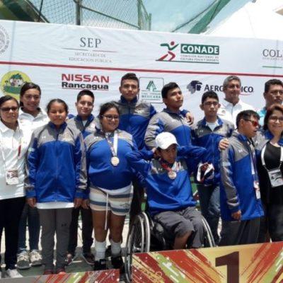 Deportistas lograron 29 medallas para QR en la Paralimpiada Nacional 2018