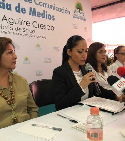 Minimiza Alejandra Aguirre 'percepción' de que no hay avances en salud en Quintana Roo