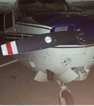 Aeronave asegurada en Belice tenía 486 paquetes con droga