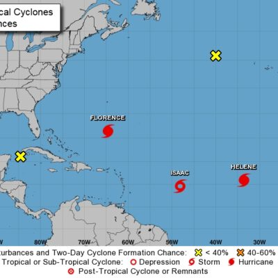 Se degrada 'Isaac' a tormenta tropical
