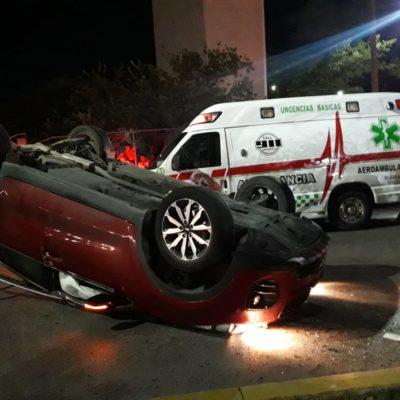 Imprudencia ocasiona accidente en la Andrés Quintana Roo