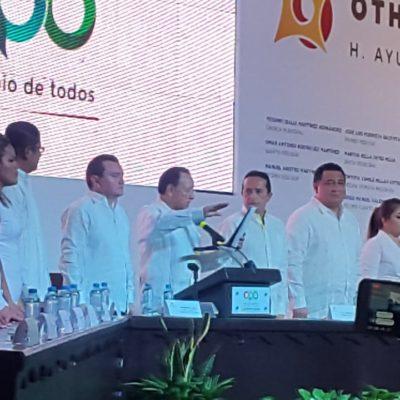 Abre Pastrana el 'desfile' de tomas de protesta de las 11 nuevas autoridades municipales en Quintana Roo