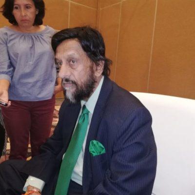 """""""Ambición está acabando con el mundo"""", asegura Rajendra Kumar Pachauri, ganador del premio Nobel de la Paz 2007"""