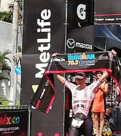 El cozumeleño Alan Carrillo, gana el tercer lugar en el Ironman 70.3
