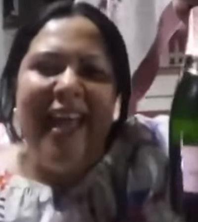 Inhabilita Morena por un año a la senadora 'Lady Champagne', aunque ya se sumó a la bancada del PT