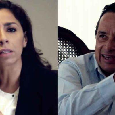ARREMETE SENADORA CONTRA EL GOBERNADOR: Marybel Villegas se queja de 'ataques' y le pide a Carlos Joaquín no proteger a la empresa Aguakan; ayer, panistas la acusaron de aprobar la concesión del agua con 'candados' y en lo 'oscurito'