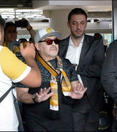 Recorren primer partido de Maradona al frente de Dorados, para no ser 'opacado' por las fiestas Patrias ni por la pelea Canelo-Golovkin