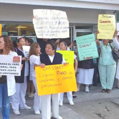 Impasibilidad de autoridades en Tabasco ante 'brazos caídos' en sector salud; trabajadores saldrán a las calles
