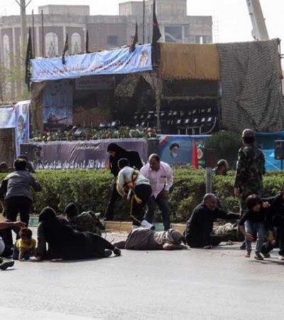 FOTOS   Hombres armados vestidos como soldados desatan matanza durante un desfile militar en Irán