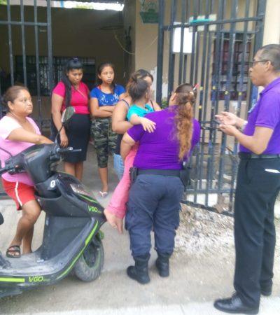 Rescata policía a niña extraviada de 9 años en Cancún