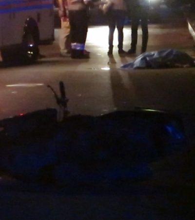 Fallece motociclista al derrapar y golpearse la cabeza en Cozumel
