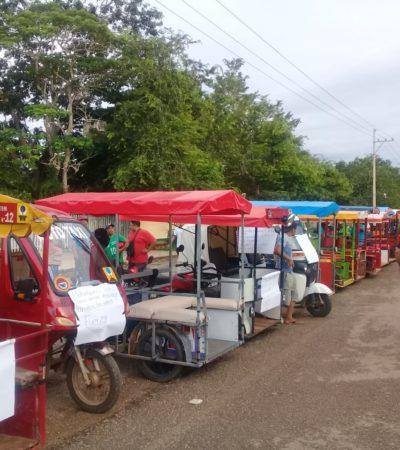 Protestan con caravana mototaxistas de Kantunilkín
