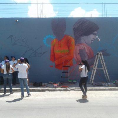 Inauguran mural por la paz en Cancún; ciudadanos buscan una ciudad tranquila y segura