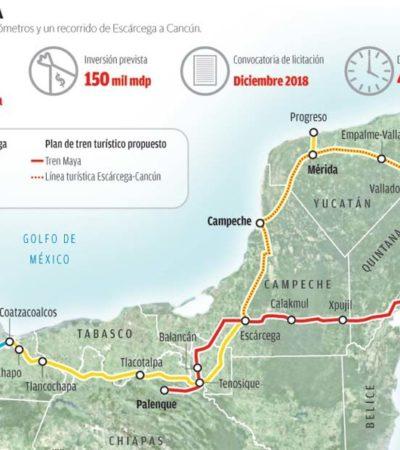 Advierte IP que Tren Maya sólo será rentable en Quintana Roo y Yucatán, no en los otros estados