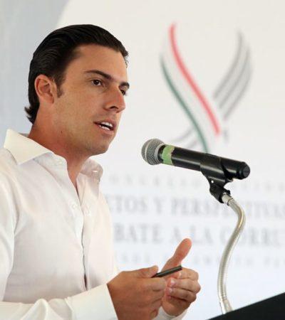 """""""Cancún es el primer municipio de Quintana Roo y uno de los tres primeros en el país en implementar el Plan Municipal Anticorrupción"""", asegura Remberto Estrada"""