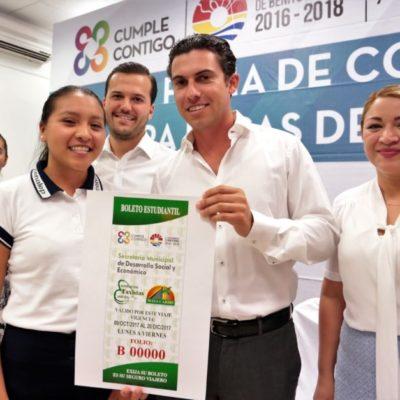 Destinan más de 24.8 mdp para becas de calidad educativa para casi 10 mil alumnos en dos años en Cancún
