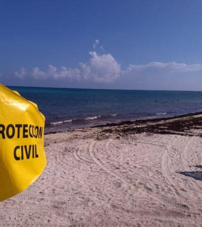 Le falla paracaídas, pero salva la vida en Playa del Carmen