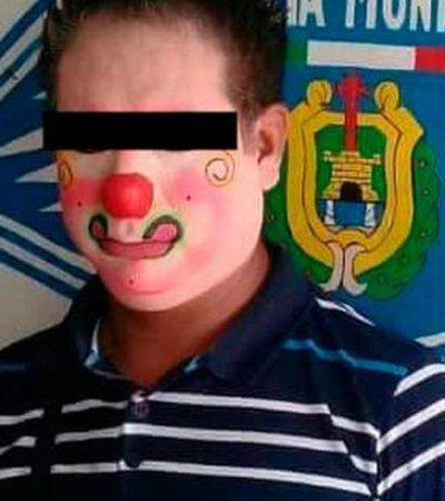 Salvan a payasito chiapaneco de ser linchado en Veracruz; en redes sociales circuló que rondaba las escuelas en busca de víctimas