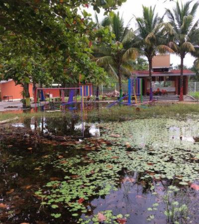 Barda perimetral empeora inundación cuando llueve en preescolar de El Naranjal; padres exigen solución a las autoridades educativas