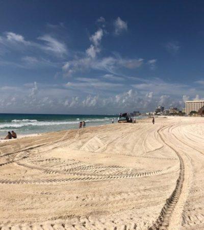 Ecologistas denuncian daños en playas de la ZH de Cancún cuando se recolecta el sargazo