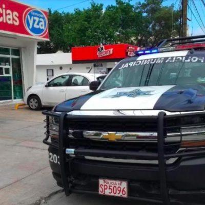 Segundo asalto del día a una farmacia Yza en Playa del Carmen