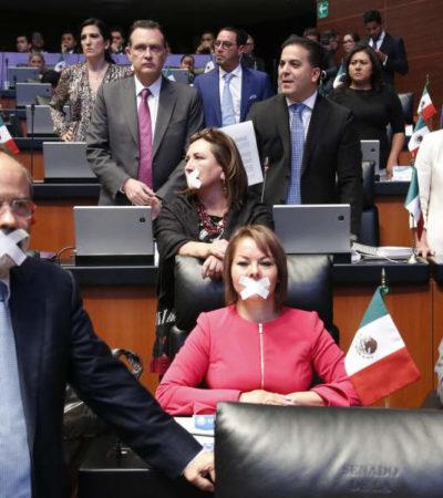 'BIENVENIDOS A LA OPOSICIÓN': Responde Monreal a protesta del PRI y PAN por supuesto 'acuerdo mordaza' en el Senado