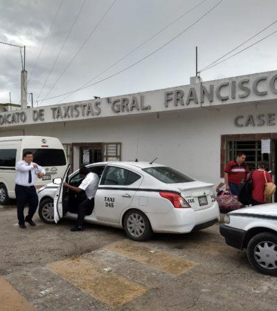 Aumentan taxistas tarifas en Felipe Carrillo Puerto