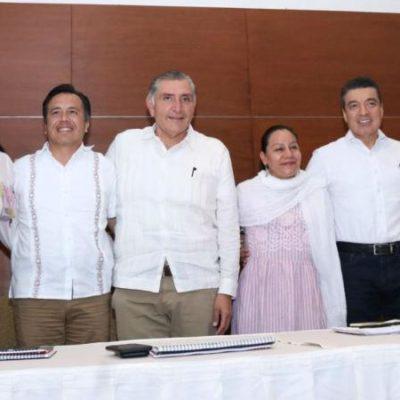 Afina Secretaría de Bienestar programas destinados al Sureste; reúne a gobernadores electos de Veracruz, Chiapas y Tabasco