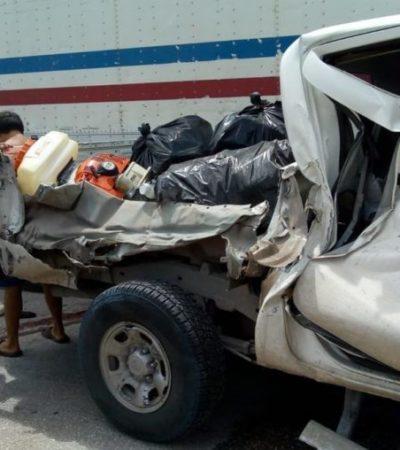 Muere vendedora de naranjas aplastada por un tráiler en la carretera Escárcega-Champotón