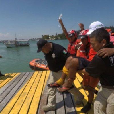 Apoya Semar rescate de pescador yucateco mordido por víbora marina en altamar