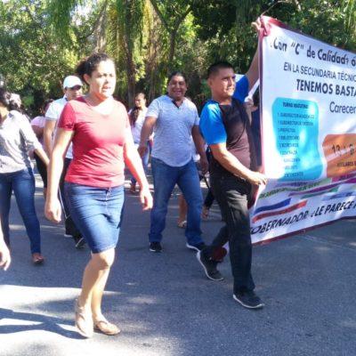 Tras protesta, atienden peticiones de padres y se evita cierre de escuela en Playa del Carmen