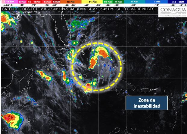 Zona de inestabilidad en Las Bahamas registra un 50% de probabilidad de desarrollo ciclónico