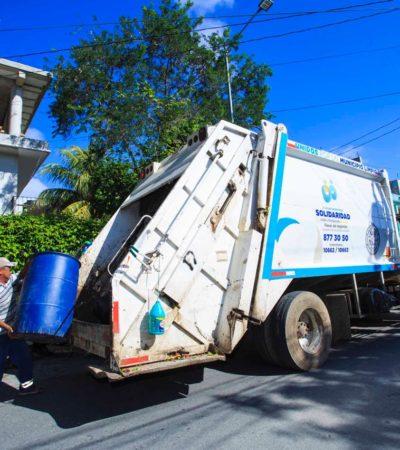 Optimiza Ayuntamiento el servicio de recoja de basura en Solidaridad