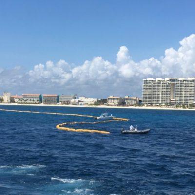 COMPLETAN PRIMER KILÓMETRO DE BARRERA ANTISARGAZO: Durante las primeras semanas de octubre concluirá la instalación de 8.4 km de estructura en Cancún, aseguran