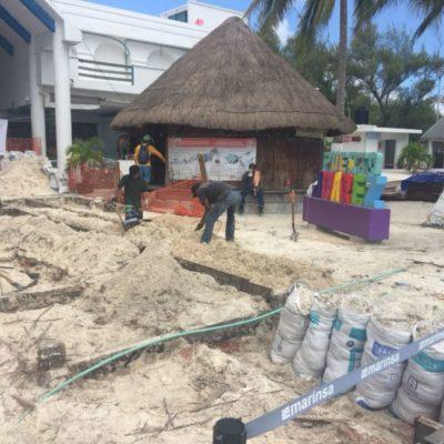 La Apiqroo realiza trabajos de mantenimiento en muelles de Puerto Juárez