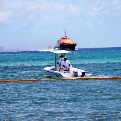 Dice Alfredo Arellano, titular de Sema, que barreras instaladas en Playa del Carmen eran para petróleo, por lo que la siguiente semana se instalarán las correctas que detengan el arribo de alga