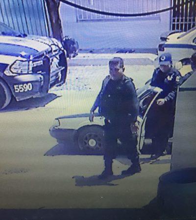 Abren carpeta de investigación contra policías municipales exhibidos al robar y extorsionar a la dueña de un lavadero de autos en Cancún