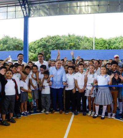 Inaugura Alcaldesa dos domos más en escuelas públicas de Playa del Carmen