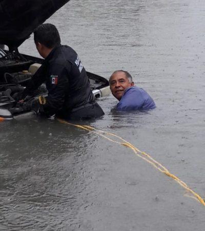 CALLES DE CANCÚN, COMO LAGUNAS: Lluvias provocan puntos críticos de inundaciones en la ciudad; varios vehículos fueron 'tragados' por el agua (videos)