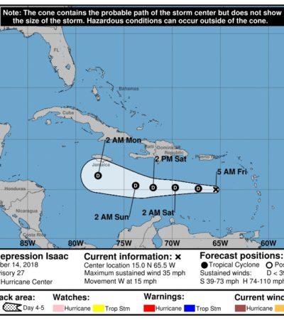 La tormenta tropical 'Isaac' se degrada a depresión tropical; continuarán con su monitoreo