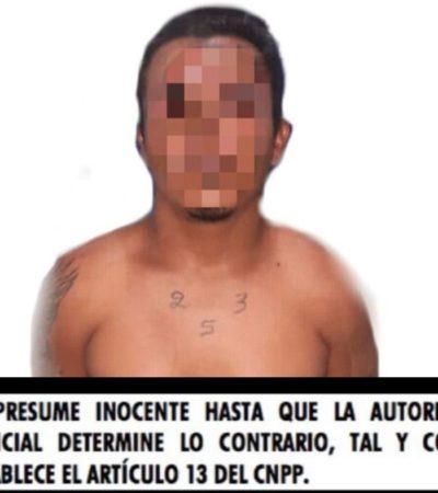 Policías estatales detienen a persona con presunta droga en Cozumel