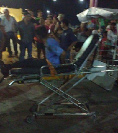 INTENTO DE LINCHAMIENTO EN LA REGIÓN 248: Vecinos de Villas del Mar III amarran y golpean a presunto ladronzuelo rescatado por la policía