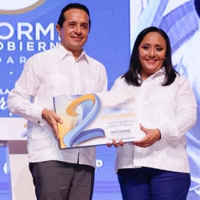 SEGUNDO INFORME EN SOLIDARIDAD: Asegura Cristina Torres que deja un municipio con un mejor futuro, disciplina financiera, sin endeudamientos y con obras útiles