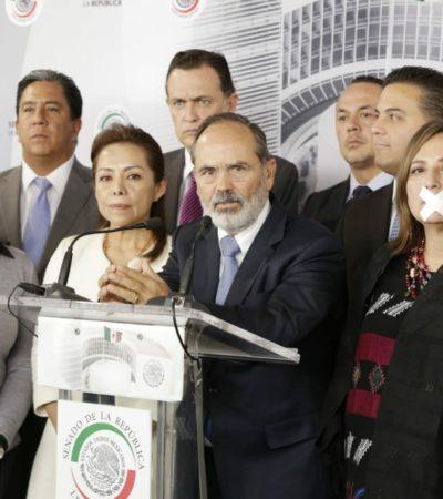 """""""Rechazamos el acuerdo mordaza de Morena en el Senado"""": Mayuli Martínez Simón"""