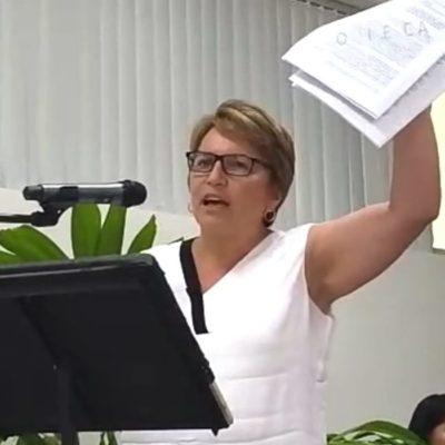 """""""Haber cedido el C4 en Solidaridad, viola la autonomía del municipio"""", denuncia Laura Beristain"""