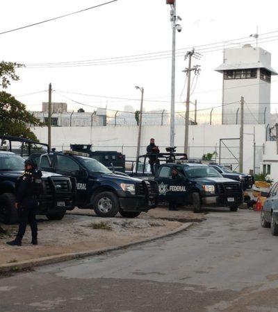 SE LLEVAN A 55: Fuerte movilización policiaca por traslado de reos de las cárceles de Cancún y Playa