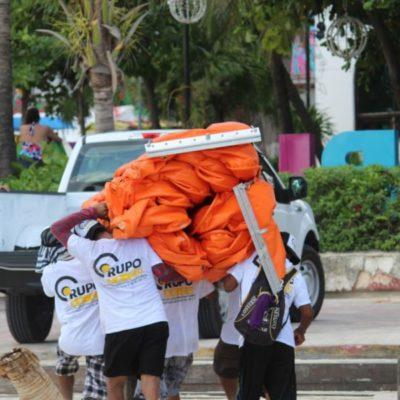 A un mes de ser anunciados por el gobierno del estado, sin resultados, Grupo Ar-Co abandona playa Caribe y se instala en Playacar