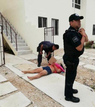 ACTUALIZACIÓN | Continúa grave la mujer que fue atacada por su pareja en Villas del Sol; el responsable continúa prófugo