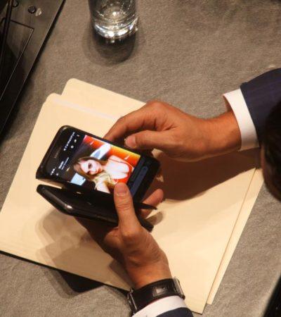 """""""PÁSAME EL CELL DEL PADROTE NO SEAS GACHO YA ME LA QUIERO ZUMBAR"""": En plena sesión, Senador panista se pone 'caliente' intercambiando fotos de chicas por Whatsapp"""